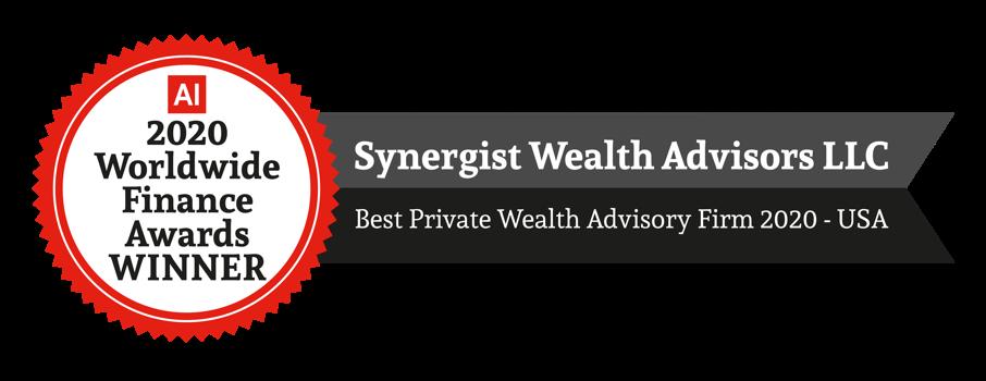 AI 2020 Worldwide Finance Awards WINNER Best Private Wealth Advisory Firm 2020 - USA